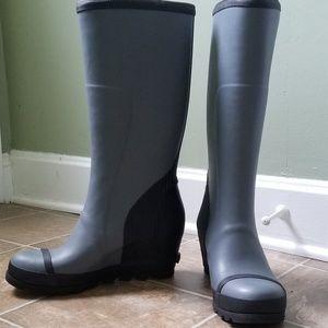 New Sorel Joan Wedge Rain Boots